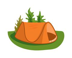 Outdoor tent vector illustration - stock illustration