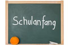 a blackboard with a text for Back to School - stock photo