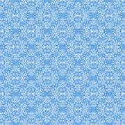Seamless Texture on Azure. Ornamental Backdrop. - stock illustration