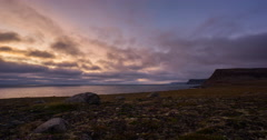West fjords sunset Stock Footage