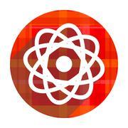 atom red flat icon isolated. - stock illustration
