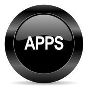 Black circle web button on white background Stock Illustration