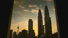 Petronas Towers KL Time-Lapse Stock Footage