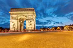 The famous Arc de Triomphe in Paris Stock Photos