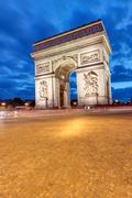 The Arc de Triomphe in Paris Stock Photos