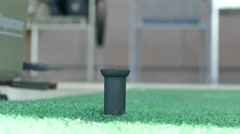 Work with golf ball dispenser Stock Footage