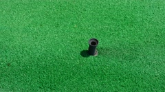 Driving Golf-ball Form The Golf Dispenser Stock Video Footage Stock Footage