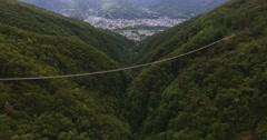 MONTE CARASSO // Ponte Tibetano // Aerial Footage - Riprese Aeree // 4K Stock Footage