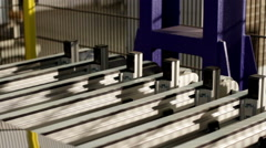 High-tech robotic line for production of metal pipes for flues and vent systems. - stock footage