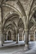 Glasgow University Cloisters Stock Photos