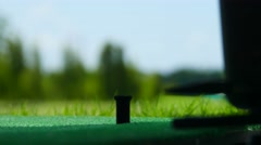 Driving Golf-ball Form The Golf Dispenser Stock Video Footage - stock footage