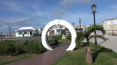 Bermuda Moongate at Royal Naval Dockyard. - stock footage