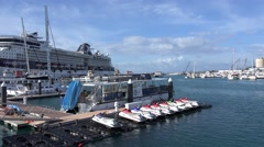 King's Wharf of Royal Naval Dockyard, Bermuda - stock footage