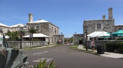Types of Royal Naval Dockyard. Old Victualling yard.  Bermuda - stock footage