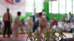 Judo competition (kids) Stock Footage