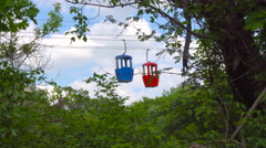 Blue and Red Booth on the Rope Road Stock Footage