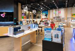electronic goods store in Siam Paragon, Bangkok - stock photo