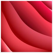 Abstract Red Background with Stripes. Vector Minimal Banner. Stock Illustration