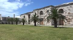 Victualling yard of Royal Naval Dockyard, Bermuda - stock footage