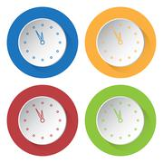 Set of four icons - last minute clock Stock Illustration