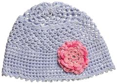 Blue baby hat for boy and girl Stock Photos