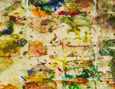 Abstract smeared in paint - stock photo