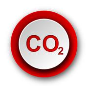carbon dioxide red modern web icon on white background. - stock illustration