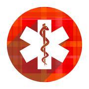Emergency red flat icon isolated. Stock Illustration