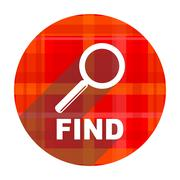 find red flat icon isolated. - stock illustration