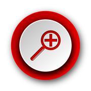 Lens red modern web icon on white background. Stock Illustration