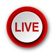 live red modern web icon on white background. - stock illustration