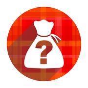 riddle red flat icon isolated. - stock illustration