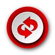 rotation red modern web icon on white background. - stock illustration