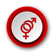 Sex red modern web icon on white background. Stock Illustration