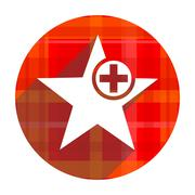 Star red flat icon isolated. Stock Illustration