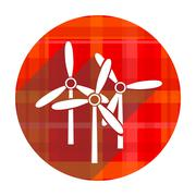 windmill red flat icon isolated. - stock illustration