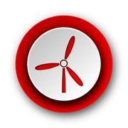 Windmill red modern web icon on white background. Stock Illustration