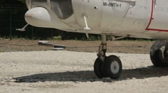 The chassis of helicopter Mi-8 off the ground. Stock Footage