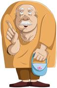 Old Man With Purse Stock Illustration