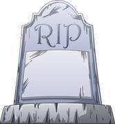 RIP Grave Stock Illustration