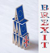 collage on event June 23 Brexit UK EU referendum concept: will the house of c - stock photo
