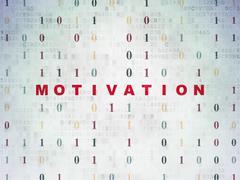 Finance concept: Motivation on Digital Data Paper background - stock illustration
