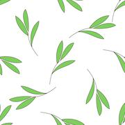 Seamless background with green branch of a plant Stock Illustration