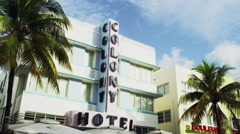 Miami Florida South Beach Hotel 5K Stock Video Footage Stock Footage