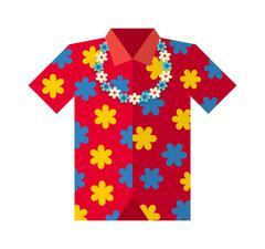 Hawaii shirt vector illustration - stock illustration