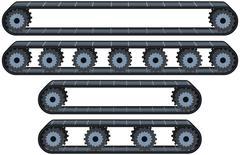 Conveyor Belt With Wheels Pack Stock Illustration