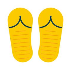 Beach slippers sneakers summer shoes - stock illustration