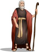 Moses From Bible For Passover - stock illustration