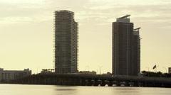 Miami Florida South Beach Skyline Buildings Sunrise 5K Stock Video Footage Stock Footage