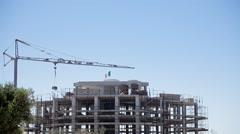 Construction site crane Italian flag Stock Footage